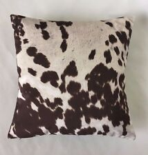 New Throw Pillow For Couch Accent Pillow Sofa Faux Cowhide Cow Print Decorative