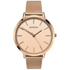 Sekonda Rose Gold Plated Mesh Bracelet Ladies Watch 2475