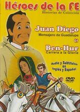 Heroes De La Fe Historias De Coleccion Juan Diego & Ben Hur New Dvd