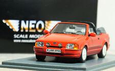 "1:43 NEO"" [Versione] FORD ESCORT XR3i Cabriolet"" (Rosso Radiante) RARO 18 MK4 RS TURBO"