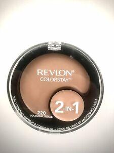 Revlon Colorstay 2 In 1 Compact Makeup & Concealer Sealed 220 Natural Beige