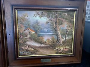 """Framed Painting """"LANDSCAPE"""" by Cafieri, Oil Painting, Old Painting!"""