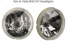 "Pair Hella 5¾"" RHD Headlight/headlamps Morette Diamond Upgrade or Replacement"