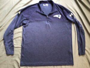 New England Patriots Under Armour Heat Gear NFL Combine Long Sleeve Shirt Large