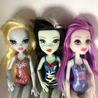 Monster High Doll's Frankie Stein, Lagoona, Ari Hauntington (lot Of 3, EUC)