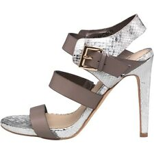 Pieces Womens LYN Silver Snakeskin/Taupe Heeled Sandals UK 5 EU 38 LG08 25