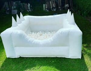 6.5ft Commercial Inflatable Bounce House Combo Slide Pool White Backyard New