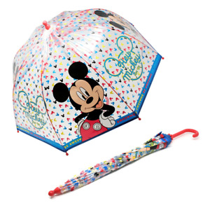 Disney Mickey Mouse Children's POE Transparent Umbrella Brolly Kids