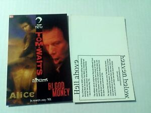 TOM WAITS - blood money / Alice POSTCARD vintage post card ANTI- records