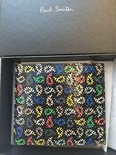 Paul Smith Men's Bifold Coin Paispr Wallet 100% Leather Made In Italy With Box