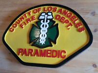 Fire Department Los Angeles Paramedic wood patch sign routed plaque Custom