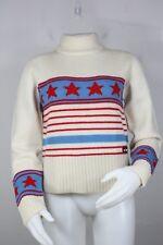 Ellesse turtle-neck wool sweater 12 vintage 90's stars mint