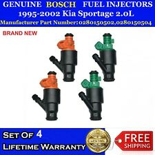 NEW 4x Genuine Bosch Fuel Injectors for 95-02 Kia Sportage 2.0L #0280150502/504