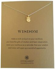"Dogeared Wisdom Wise Owl Reminder Gold Dipped 16"" Necklace"