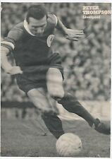 PETER THOMPSON LIVERPOOL 1963-1972 ORIGINAL HAND SIGNED MAGAZINE CUTTING