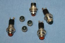 4 Assorted  Panel Mounted Indicator Warning Lamp Sockets - NO bulbs          #6