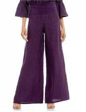 Bryn Walker Oscar Pant Myth Purple Linen Rolled Waist Size L Large