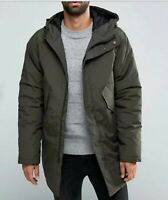 EDWIN Mens FISHTAIL PARKA uniform green SIZE L New with tags
