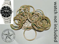 (5) 3M ADHESIVE BEZEL INSERT RINGS FOR SEIKO SNZF15, SNZF17 SEA URCHIN