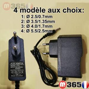 12V 1A 1000mA UE Plug Chargeur AC 100-240V À DC 12V 1A Adaptateur alimentation