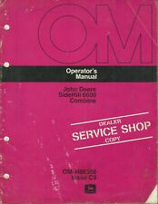 John Deere Side Hill 6600 Combine Om-H88386 Issue C5 Tractor Operator's Manual