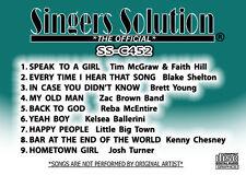 Singers Solution COUNTRY #452  Karaoke 9-Song-SPEAK TO A GIRL-YEAH BOY-FREE SHIP