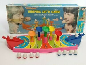"""Vintage Board Game - Jumping Jack Game by """"Blue-Box"""" for 2 Players ~ Complete"""