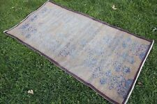 "Vintage Handmade Turkish Anatolian Wool Area  Rug Carpet 68""x34"""
