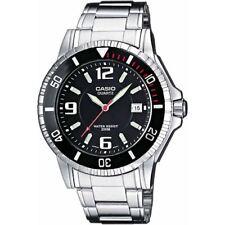 Reloj para Hombres Casio, Acero Inoxidable, Esfera Negra, MTD-1053D-1AV