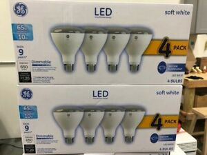 GE 65W Equivalent Soft White BR30 LED Dimmable Light Bulb (8-Pack)