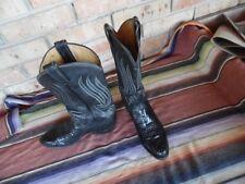 Men's Vintage Tony Lama Gold Label Snakeskin Western Cowboy Boots 8 1/2 D (h175)