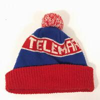 CHAOS brand TELEMARK SKIER Vintage Pom Pom Hat RedWhiteBlue Free Shipping - hbx9