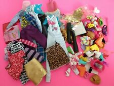 New ListingLot of good condition Barbie doll dresses clothes lot, shoes and accessories