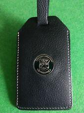 Strandhill golf club leather bag Tag with leather strap windowed id  souvenir