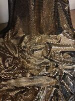 """1 MTR EMERALD GREEN ALL OVER SEQUIN FABRIC..45/"""" WIDE SPECIAL OFFER £2.99"""