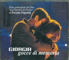 Giorgia - Gocce Di Memoria 1 Track Promo Cd Perfetto Sconto EU 5 x Spesa EU 50
