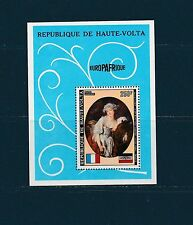 Haute Volta  bloc  tableau de Greuze la laitière  1973  num: BF 5H  **