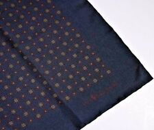 NWOT Polo Ralph Lauren Italy Silk Navy Ancient Madder Neat Mosaic Pocket Square