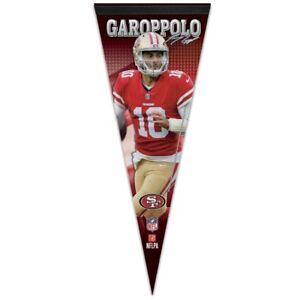 "JIMMY GAROPPOLO #10 SAN FRANCISCO 49ERS ROLL UP PREMIUM FELT PENNANT 12""x30"" 👀"
