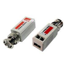CCTV UTP Cat5 Passive Video Balun Transceiver Connectors For Security Cam D013