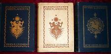Holland Tales & Legends, 3V Color Plates, 1920s  Josef Cohen & van Eysinga 1920s