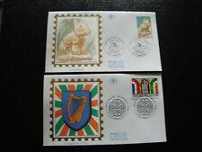 FRANCE - 2 enveloppes 1er jour 1996 (imaginai irlandais-arawaks) (cy21) french
