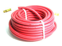 """50 FT 1/4"""" ID CONTINENTAL RED RUBBER AIR HOSE 1/4"""" NPT"""