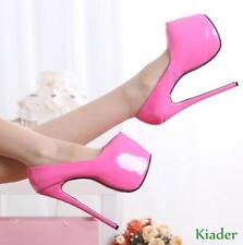 Womens Super High Heels 18CM Nightclub Party Shoes Wedding Platform Plus Size