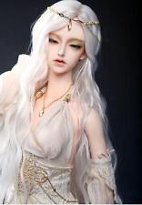 "7-8"" Wig 1/4 MSD BJD Long Curly White hair Mini Super Dollfie AOD DL DOD DK Luts"