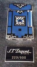 ST DUPONT NUEVO MUNDO LINGE LINE 2 LIMITED EDITIO PALLADIUM LIGHTER BLUE LACQUER
