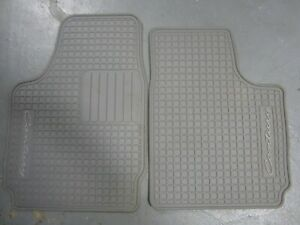 97-05 Buick Century All-Weather Rubber Front Floor Mats Grey Gray Pair NOS