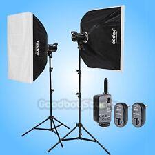 Godox DE300 X2 600W Studio Flash Strobe Light 60x90cm Softbox Kit w/ FT-16 220V