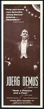 1959 Joerg Demus photo piano recital tour booking trade print ad