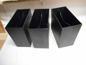 3 gebrauchte LP Kästen - LP Kasten  - schwarz für je ca. 50 LP